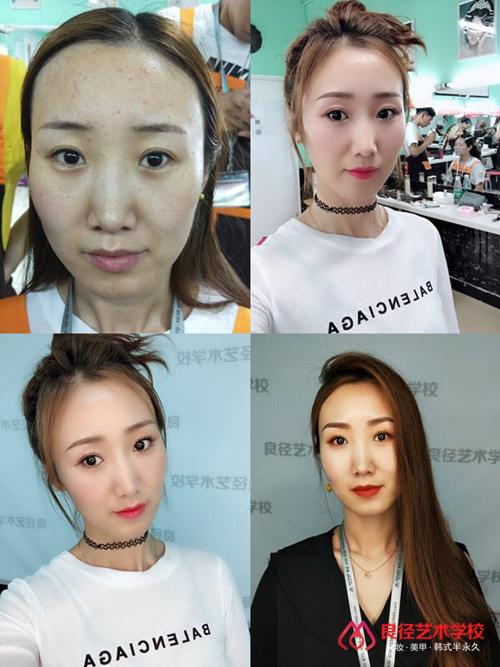 北京彩妆学校化妆作品