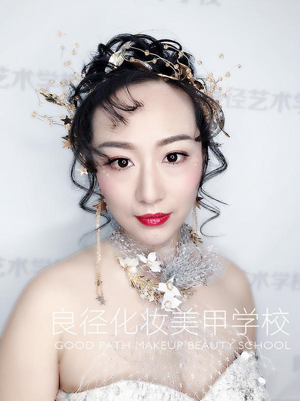 北京良径化妆造型学校 学员作品