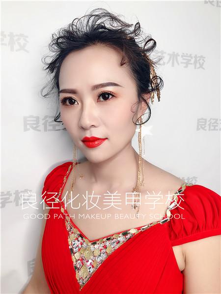 北京良径化妆造型学校 彩妆作品2
