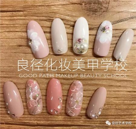 北京良径化妆造型学校 日系美甲作品2