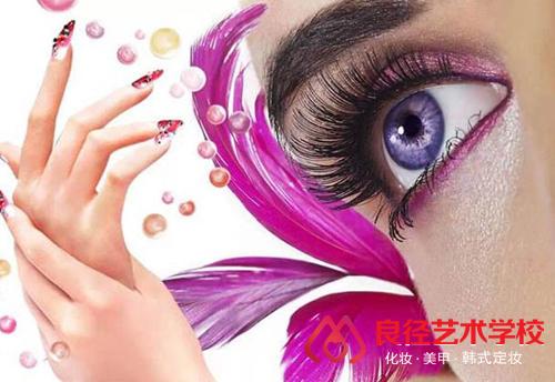 北京良径化妆造型学校 美甲美睫作品