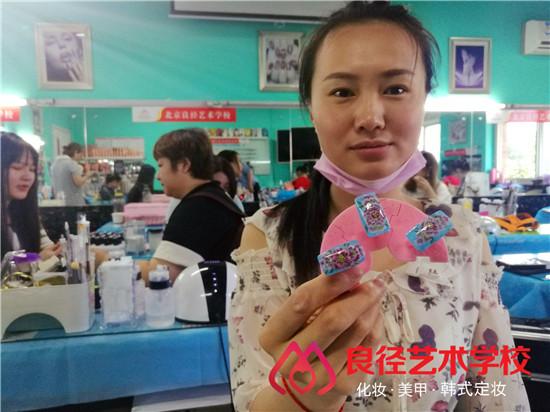 北京良径化妆造型学校 美甲学员毕业作品2
