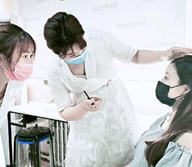 北京通州良径化妆学校纹绣课堂