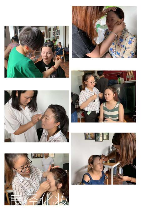 良径化妆造型学校参加圣露国际庄园七夕派对实习1