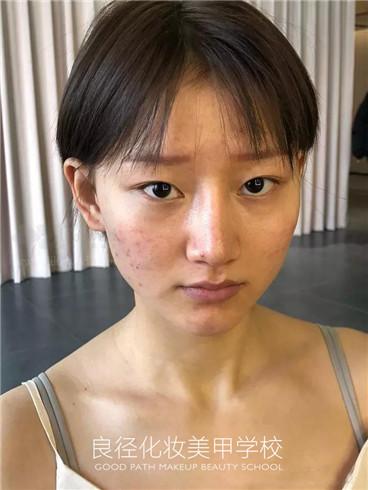 北京良径化妆造型学校 妆前照