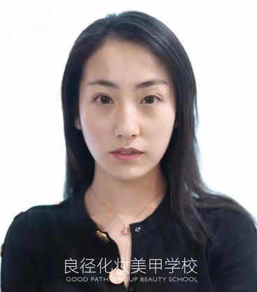 北京良径化妆造型学校 妆前照片