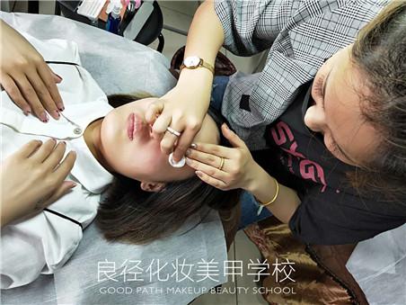 北京良径化妆造型学校 半永久实操