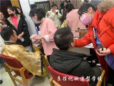 北京良径化妆造型学校 学员化妆实习55