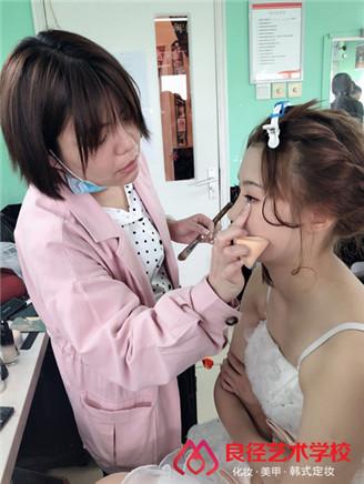 北京良径化妆造型学校 化妆练习