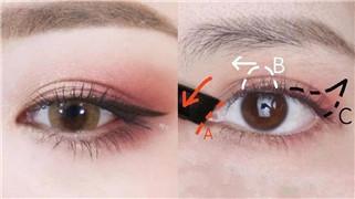 """不同眼型的""""矫正眼型""""眼影画法"""