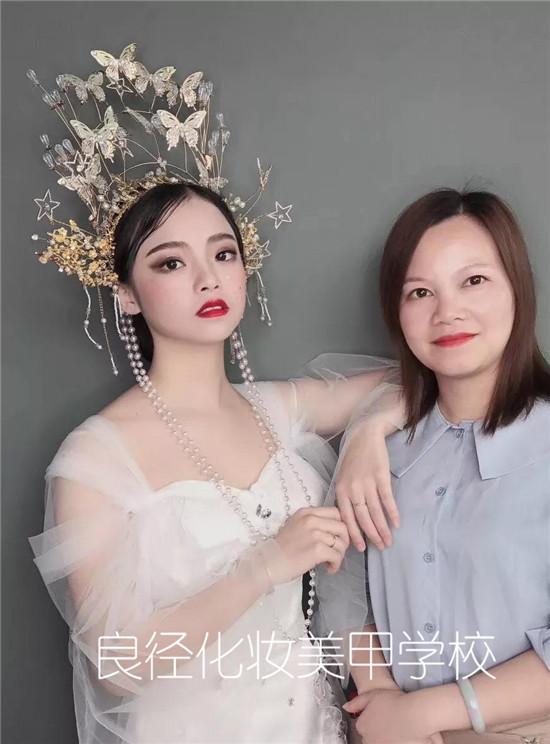 北京良径化妆培训 化妆培训班作品