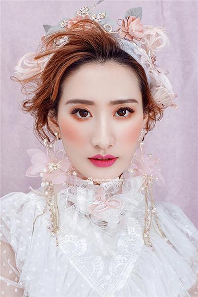 北京良径化妆培训 鲜花新娘妆作品