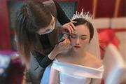 2020良径化妆学校新娘化妆师班学员国庆跟妆记录