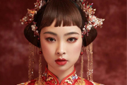 良径学校学员彩妆作品 中式秀禾新娘造型