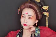 北京良径化妆学校彩妆作品:云想衣裳花想容