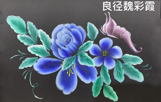 北京美甲教学课程:3D美甲彩绘排笔作品